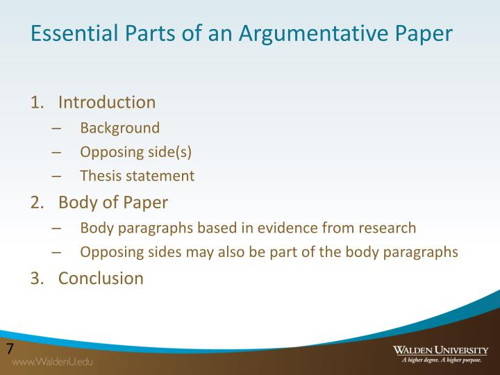 introduction to an argumentative research paper