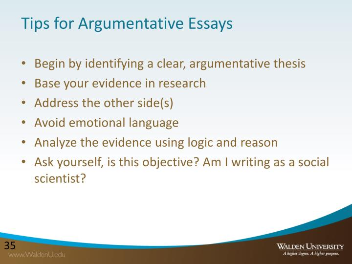 argumentative essay tips