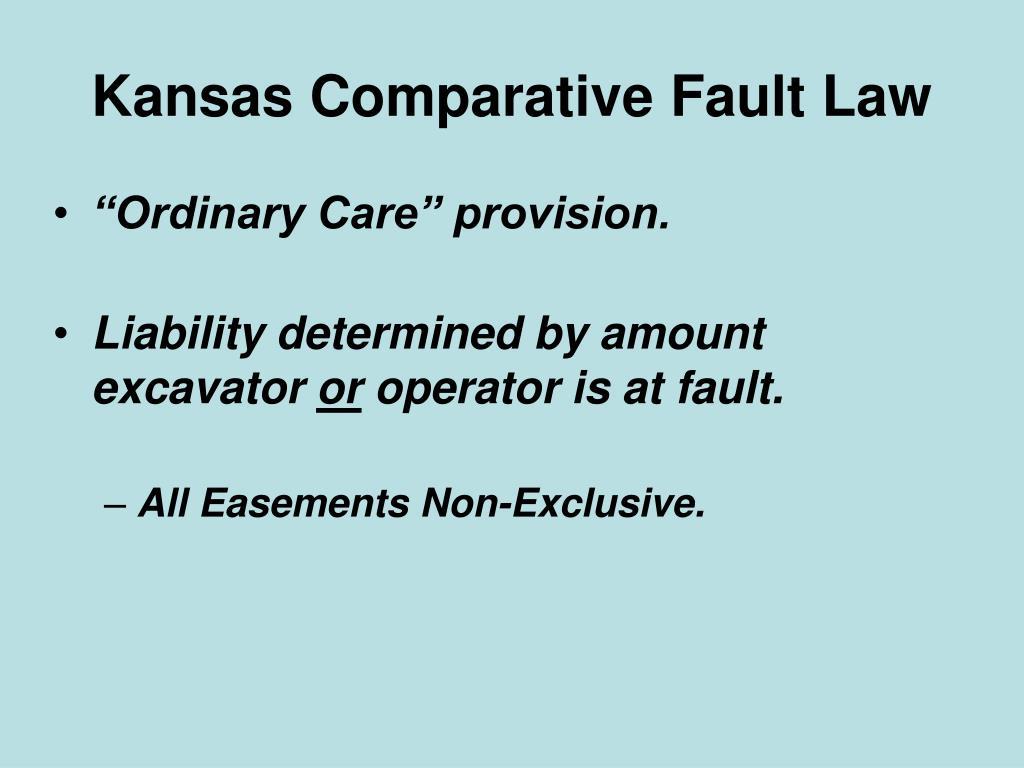 Kansas Comparative Fault Law