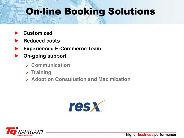 On-line Booking Solutions