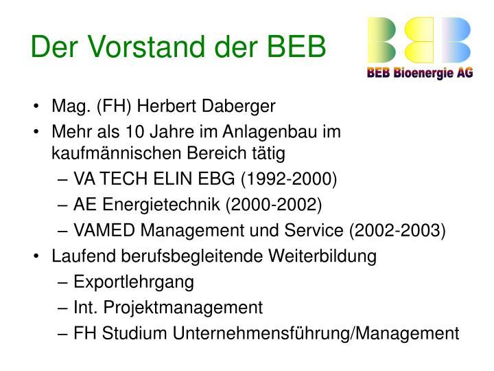 Der Vorstand der BEB