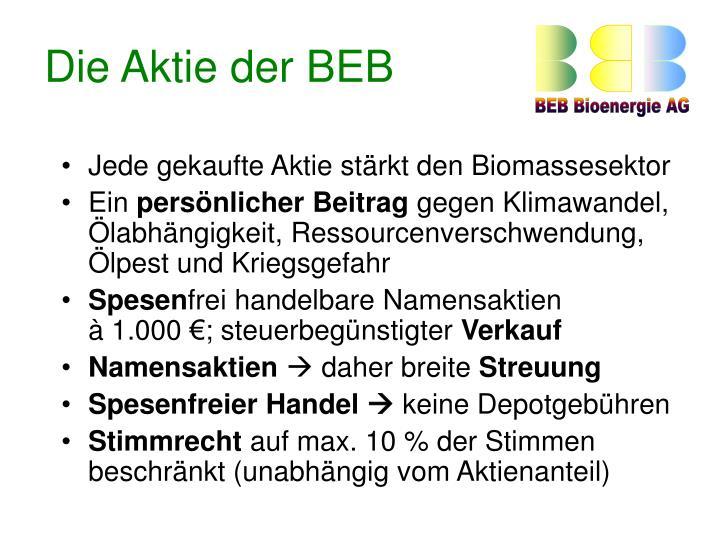 Die Aktie der BEB