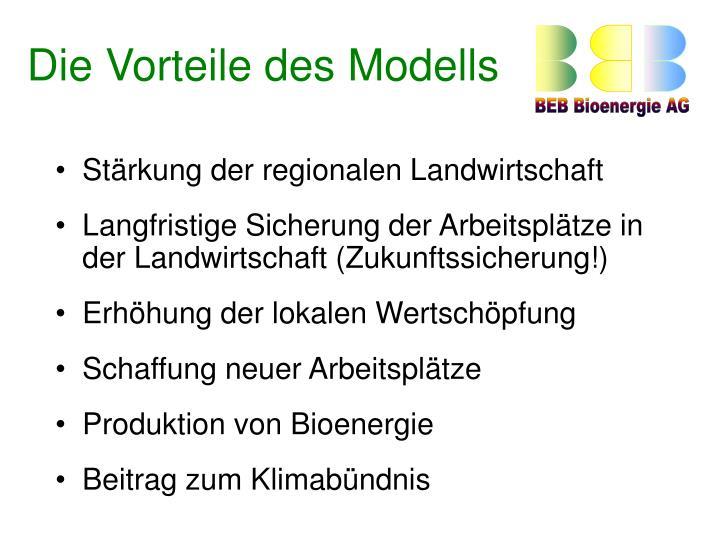 Die Vorteile des Modells