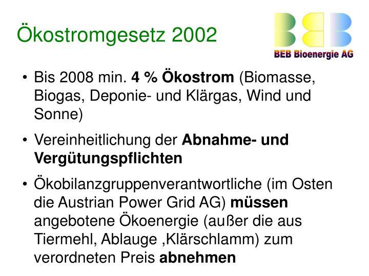 Ökostromgesetz 2002