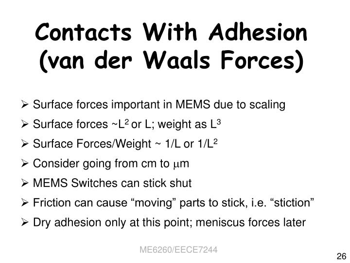 Contacts With Adhesion