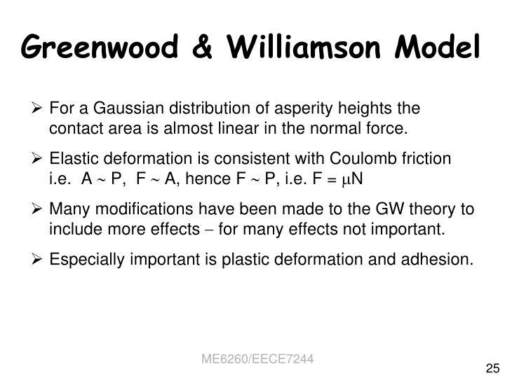 Greenwood & Williamson Model