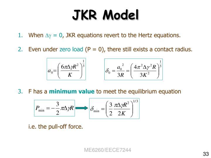 JKR Model
