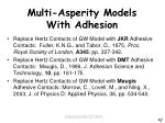 multi asperity models with adhesion