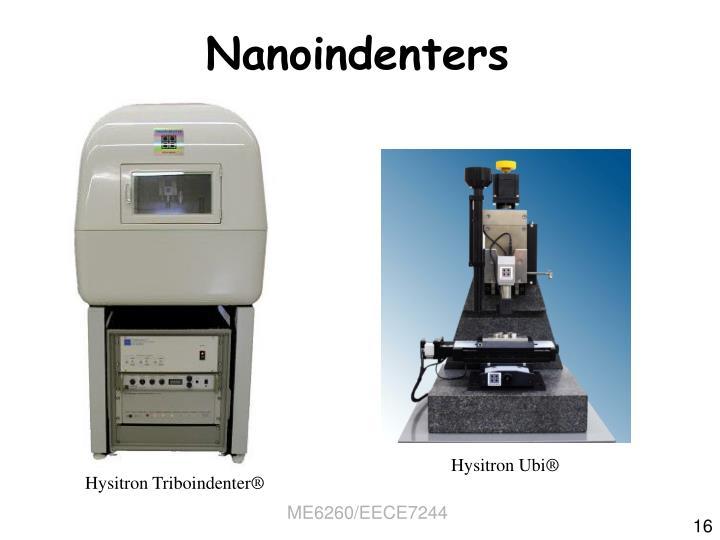 Nanoindenters