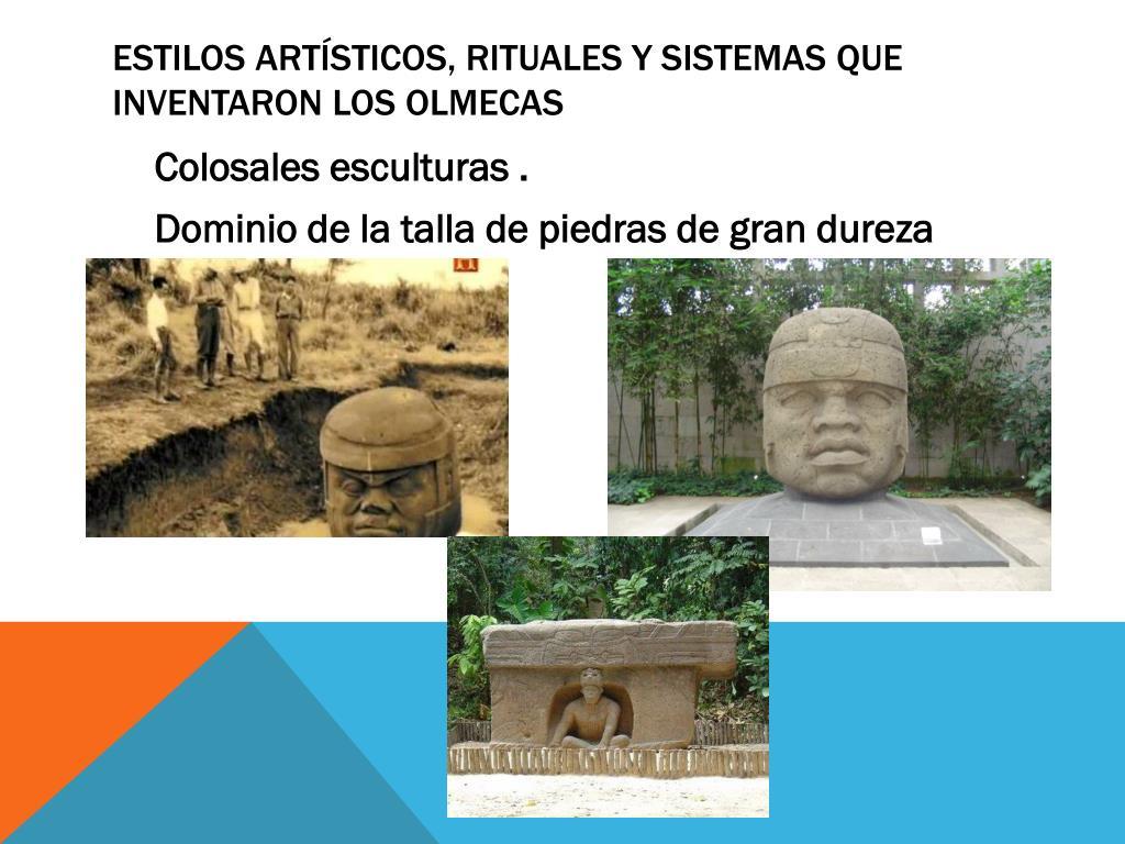 Estilos artísticos, rituales y sistemas que inventaron los olmecas