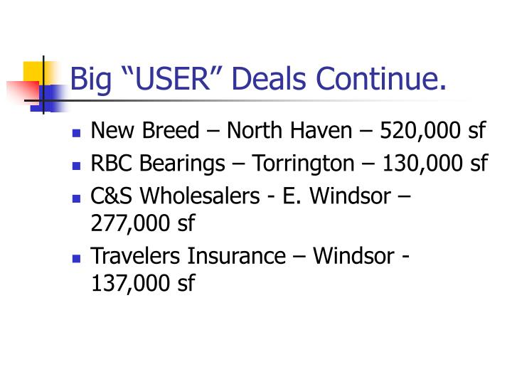 "Big ""USER"" Deals Continue."