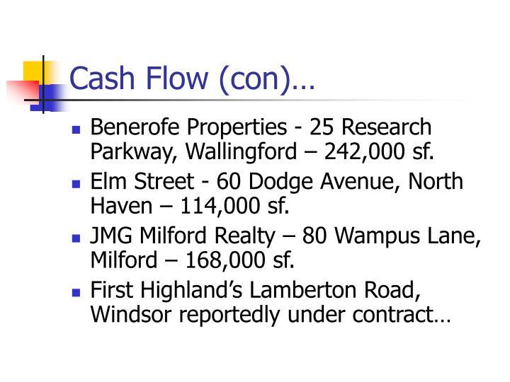 Cash Flow (con)…