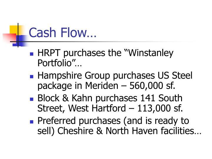 Cash Flow…