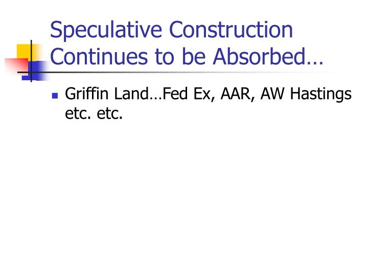 Speculative Construction Continues to be Absorbed…