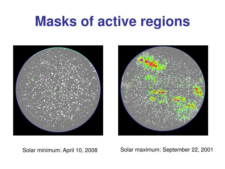Masks of active regions