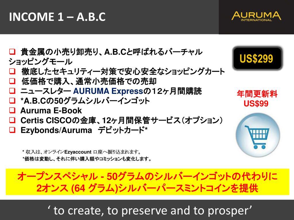 INCOME 1 – A.B.C