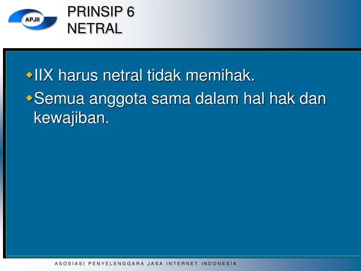 PRINSIP 6