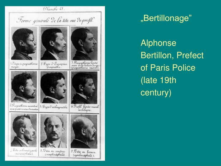 """Bertillonage"""