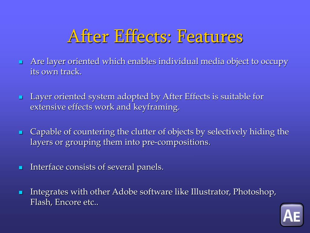 After Effects: Features