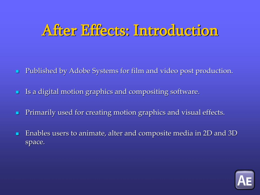 After Effects: Introduction