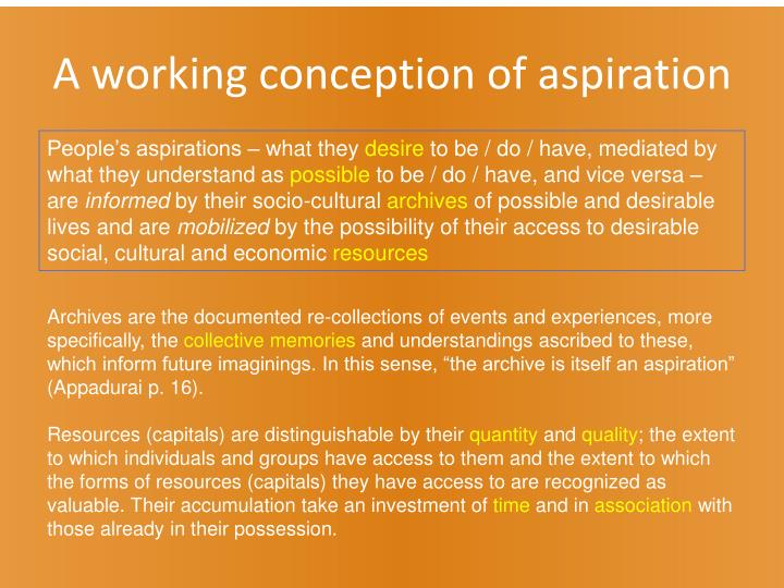 A working conception of aspiration