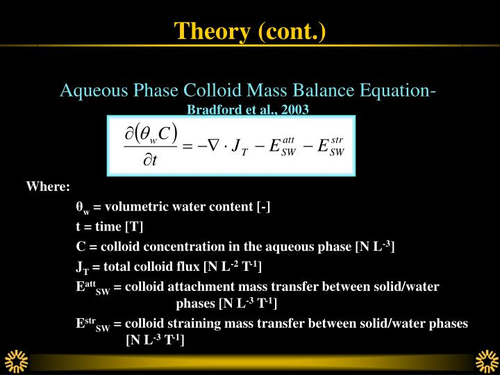 Theory (cont.)