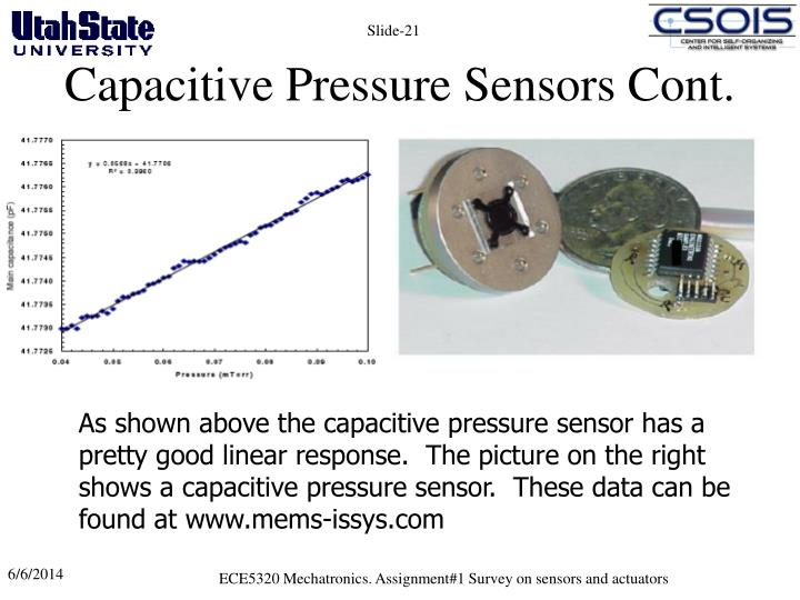 Capacitive Pressure Sensors Cont.