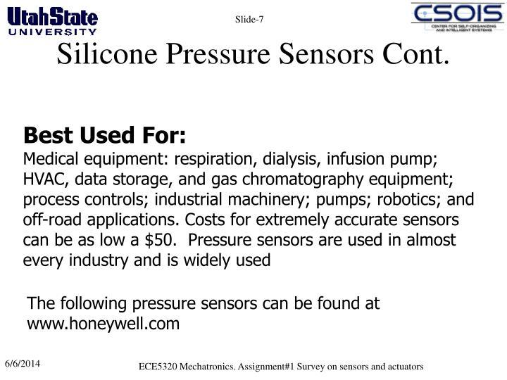 Silicone Pressure Sensors Cont.