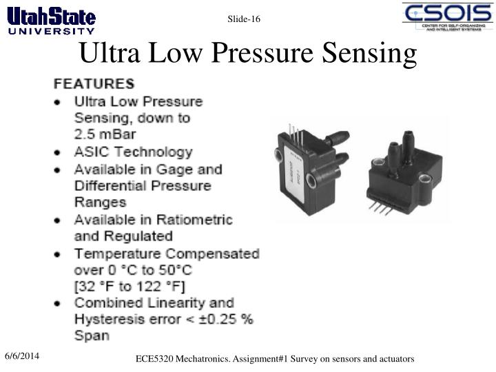 Ultra Low Pressure Sensing