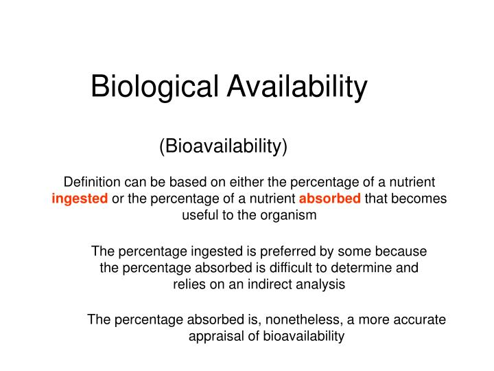 Biological Availability