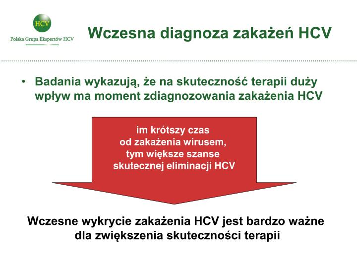 Wczesna diagnoza zakażeń HCV