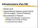 infrastructure d un fai1