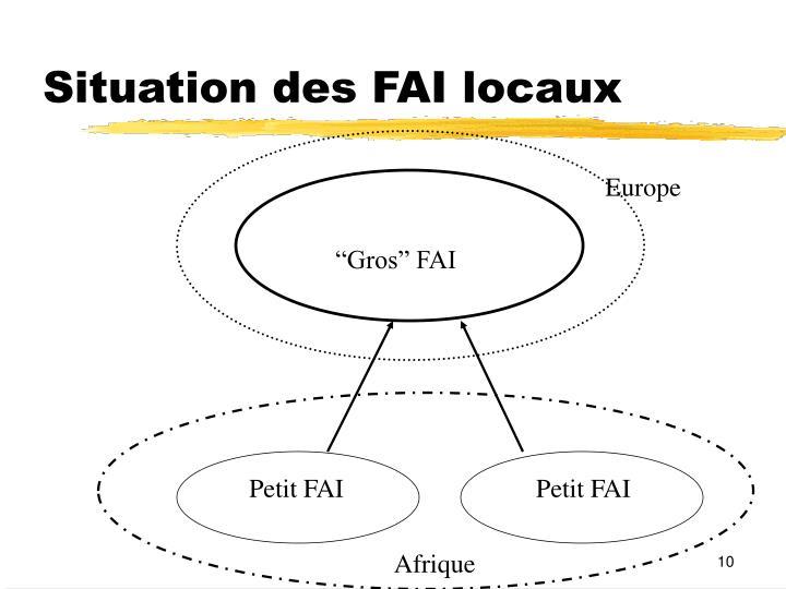 Situation des FAI locaux