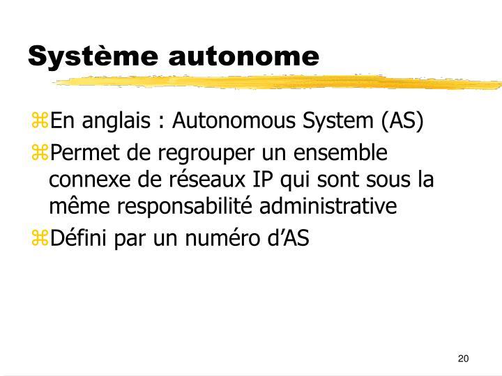 Système autonome