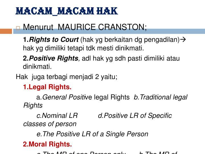 MACAM_MACAM HAK