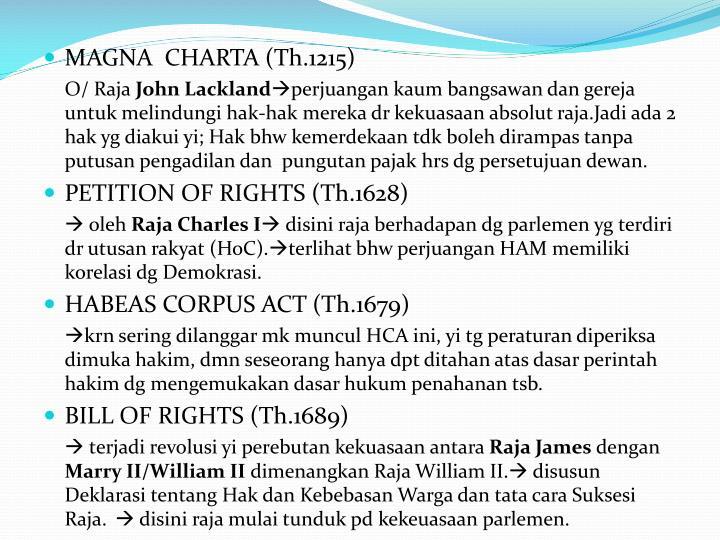 MAGNA  CHARTA (Th.1215)