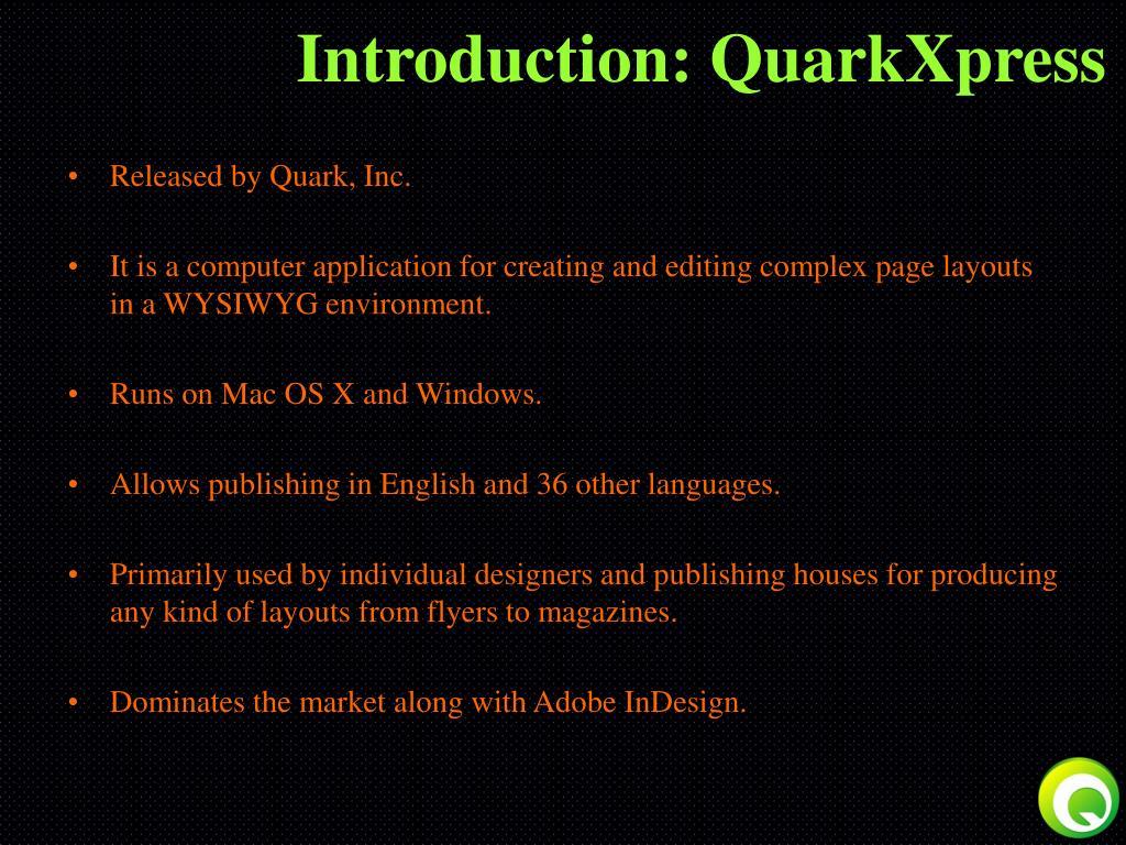 Introduction: QuarkXpress