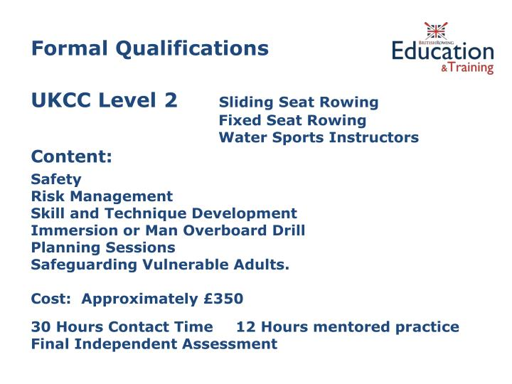 Formal Qualifications