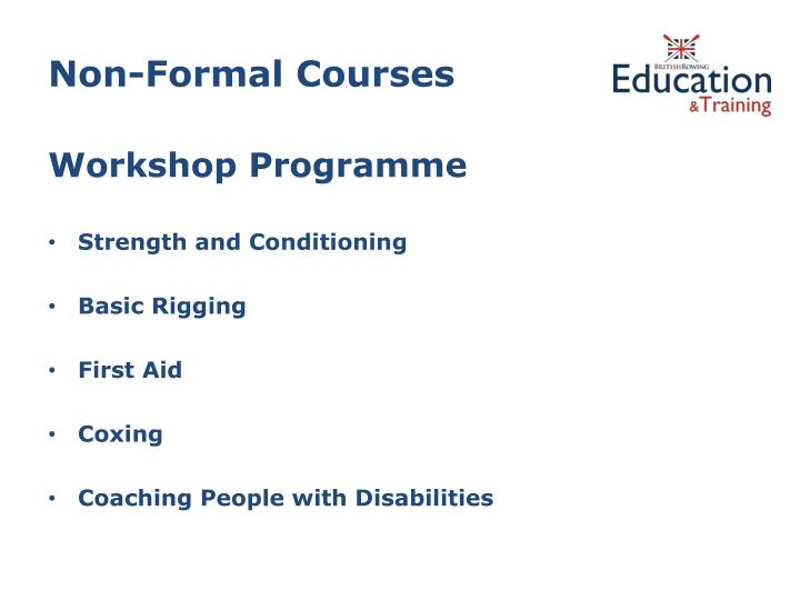 Non-Formal Courses