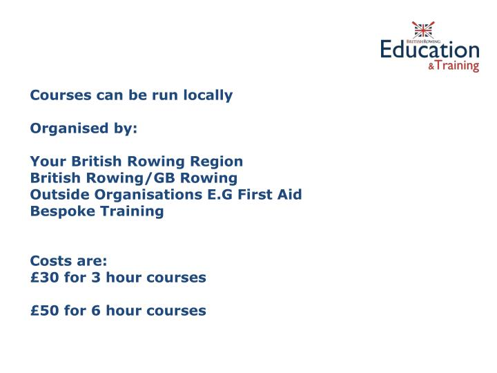 Courses can be run locally