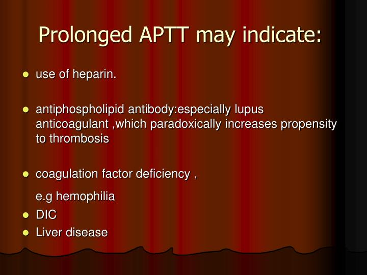Prolonged APTT may indicate: