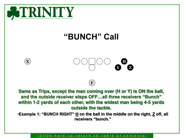 """BUNCH"" Call"