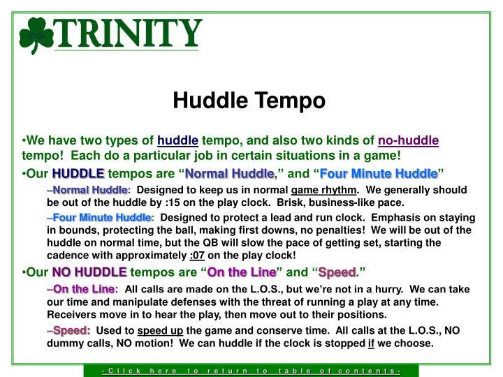 Huddle Tempo