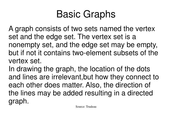 graphs graph theory and vertex Graphically, we represent a graph by drawing a point for each vertex and  representing each edge by a curve joining its endpoints for our purposes all  graphs.