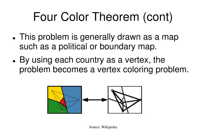 a review of the four color theorem by francis guthrie In mathematics, the four color theorem, or the four color map theorem, states that,  given any  at the time, guthrie's brother, frederick, was a student of augustus  de morgan  the following discussion is a summary based on the introduction  to every planar  allaire, frank (1978), another proof of the four colour  theorem.