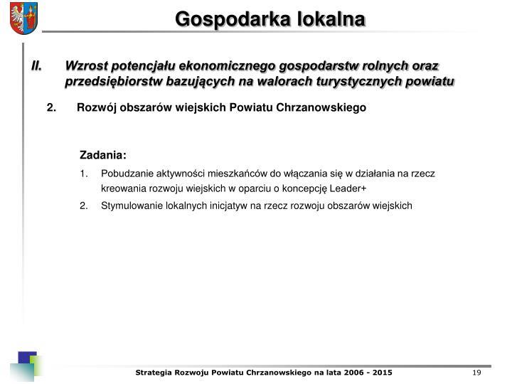 Rozwj obszarw wiejskich Powiatu Chrzanowskiego