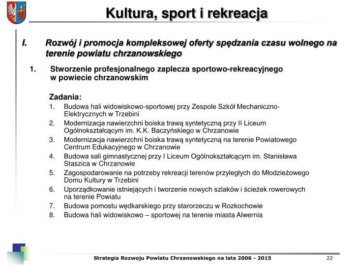 Stworzenie profesjonalnego zaplecza sportowo-rekreacyjnego