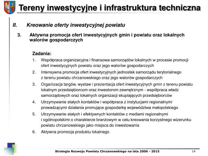 Aktywna promocja ofert inwestycyjnych gmin i powiatu oraz lokalnych walorw gospodarczych