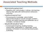 associated teaching methods