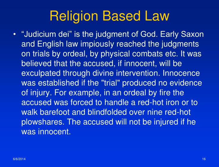 Religion Based Law